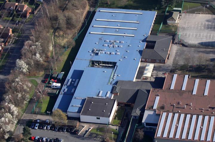 Copley School built-up felt roof