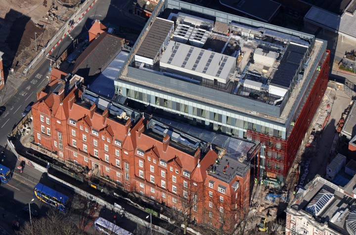 Manchester Royal Eye Hospital roof