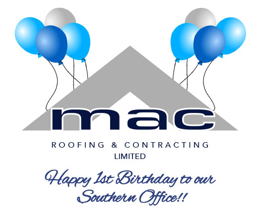 MAC Roofing 1st birthday in South