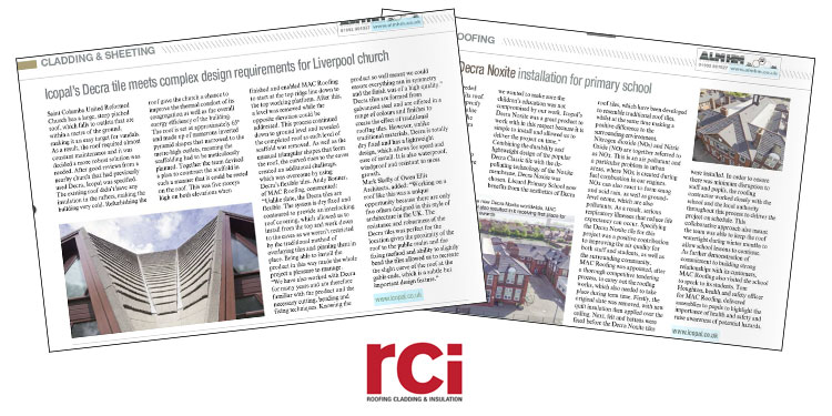 MAC Roofing in RCi Magazine